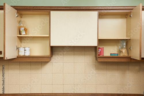 Photo Empty Kitchen Cupboards