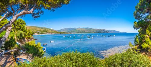 Photo Beautiful coastal landscape at the Cilentan Coast, Campania, southern Italy