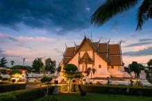 Thai Temple, Night Scene Of Wat Phumin
