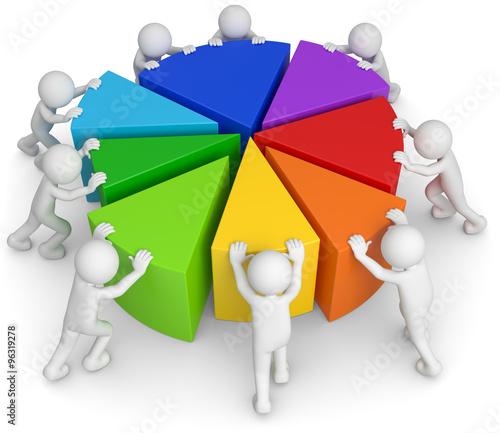 3d Männchen Teamwork Diagramm – kaufen Sie diese ...