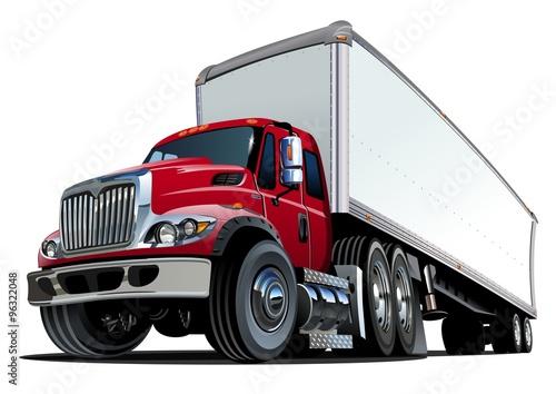 Fototapeta Cartoon pół ciężarówki