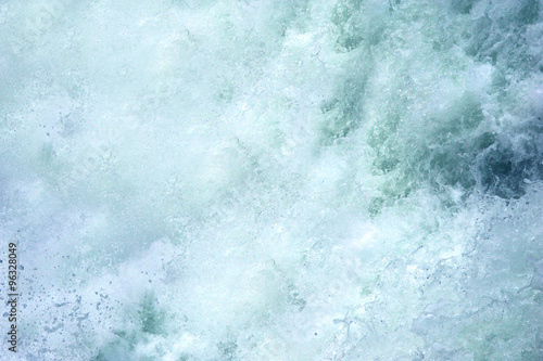 Küchenrückwand aus Glas mit Foto Wasserfalle Bottom of Upper Falls, in Yellowstone National Park, is one huge spray of water. White foam and spray fills image.