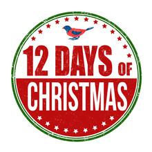 12 Days Of Christmas Stamp