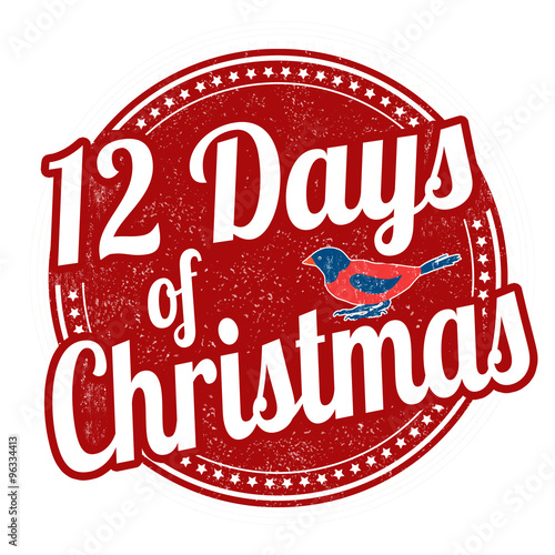 Fotografia  12 Days of Christmas stamp
