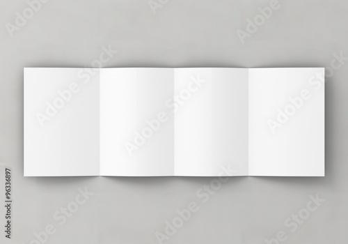 Photo  Din A5 gefalten Broschüre weiß Vorlage