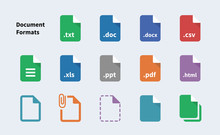 File Formats Of Document Icons