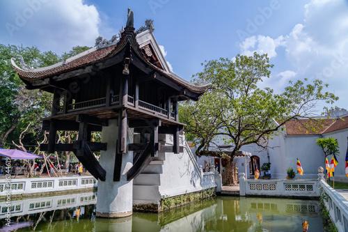 Photo  One Pillar Pagoda, reconstructed buddhist temple in  Hanoi