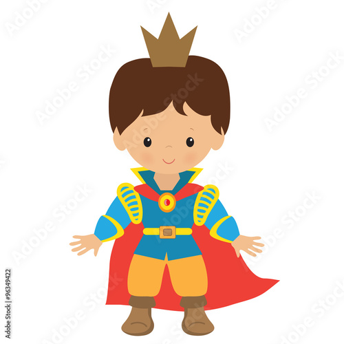 Cute prince vector illustration