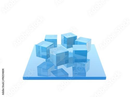 Fotografie, Obraz  glass cube