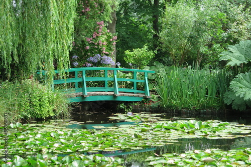 Staande foto Waterlelies Garten von Claude Monet in Giverny