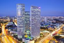 Tel Aviv Cityscape At Twilight