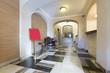 Hotel interior, entrance reception area