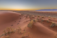 Red Sand Dunes After Sunset