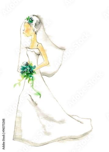 ウェディングドレス , Adobe Stock でこのストックイラストを