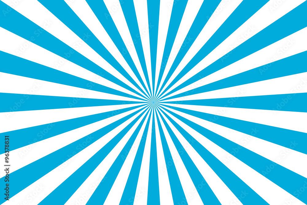 Fototapety, obrazy: sunburst retro rays illlustration in blue