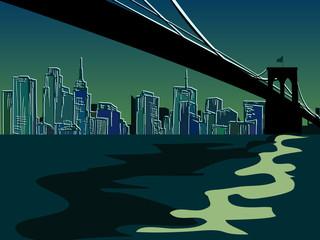 FototapetaHand drawn New York Bridge - vector