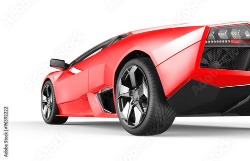 Fotobehang Snelle auto s Red luxury sport car