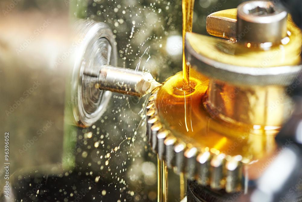 Fototapety, obrazy: tooth gear wheel machining