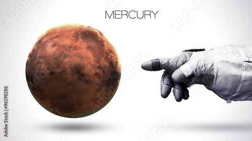 Fotografie, Obraz Mercury - High resolution best quality solar system planet