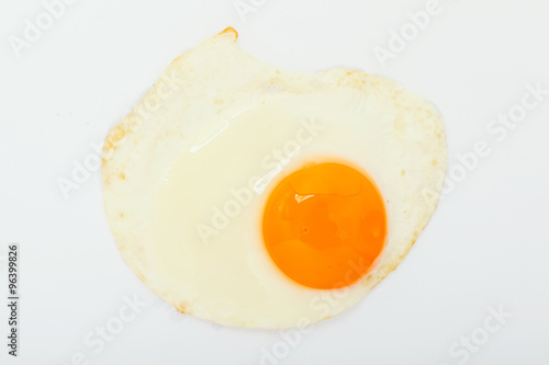 Foto op Plexiglas Gebakken Eieren fried egg on white background