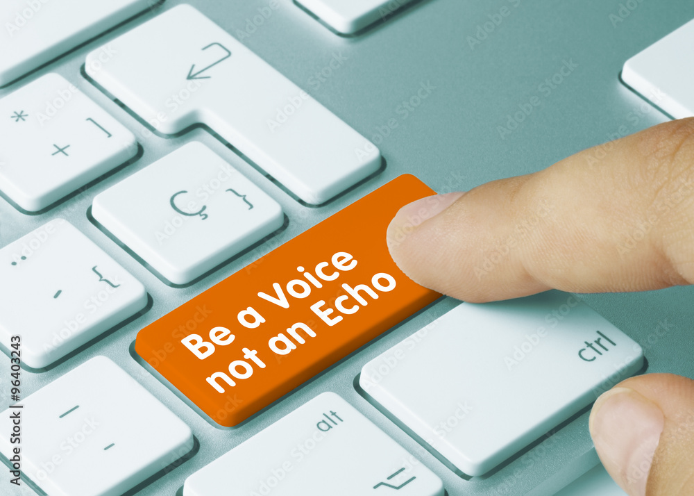 Photo  Be a voice not an echo