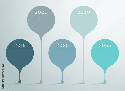 Poster  Timeline Vector 3d Infographic 6