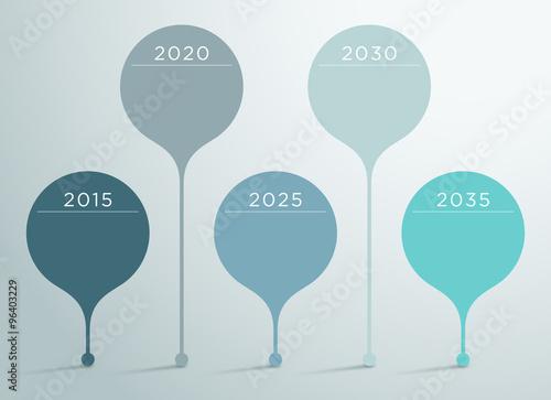 Fotografia  Timeline Vector 3d Infographic 6