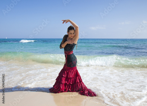 obraz dibond flamenco and ocean