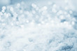 canvas print picture - Abstract cold winter background with snow