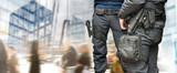 Armed policemen - 96411618