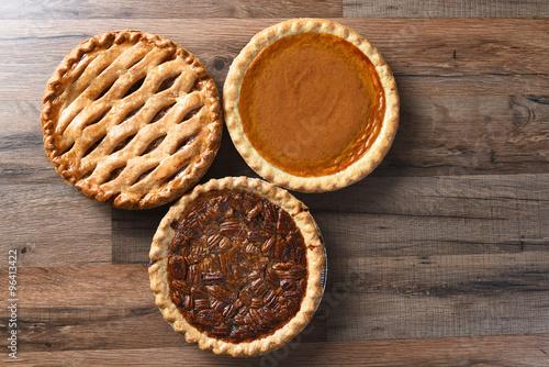 Photo  Three Thanksgiving Pies
