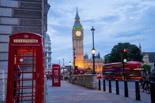 Papiers peints Con. ancienne Big Ben & Westminster London, UK