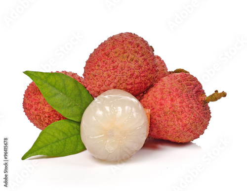 Litchi isolated on the white background.
