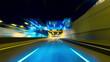 4K drive pov modern highway timelapse/hyperlapse night