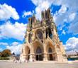 canvas print picture - Notre Dame de Reims Cathedral, France