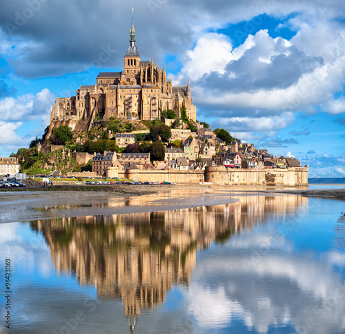 Mont Saint-Michel, France Fotobehang