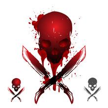 Blood Skull Illustration