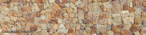 Deurstickers Stenen Stone wall background