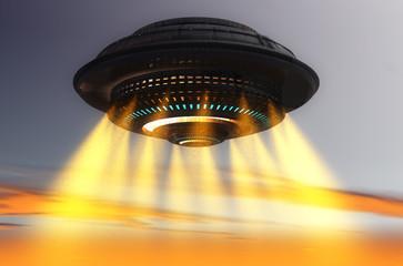 Fototapeta Fantasy Futuristic UFO ship