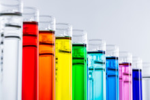 Colorful Chemicals In Test Tubes