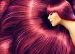 Leinwandbild Motiv Beautiful hair. Beauty woman with long red hair as background