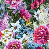 Watercolor floral pattern - 96432232
