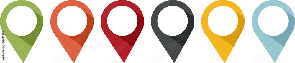 Fototapeta épingle ou balise pour indiquer un emplacement
