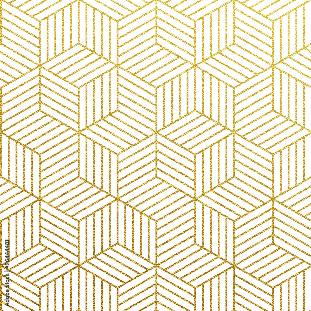 Fototapeta Vector geometric gold pattern