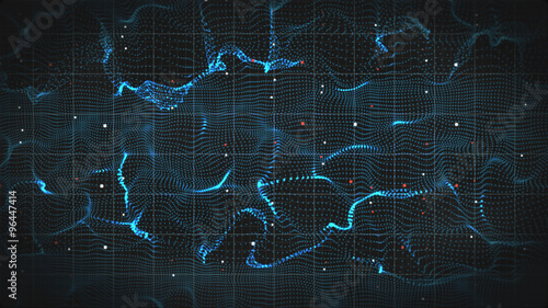 Tuinposter Abstract wave abstract 3D form of electromagnetic wave