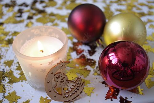 Boule Decoration.Noël Boule Décoration Bougie Flamme Bois Buy This Stock