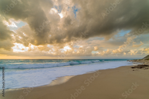 Fototapety, obrazy: Stormy evening at the beach