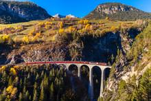Train Running On Landvasser Viaduct
