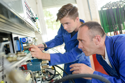 Photo mechanical engineering apprentice