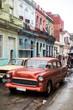 Street scene on rainy day in Havana,Cuba